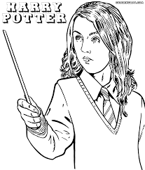 Luna Lovegood Coloring Sheet