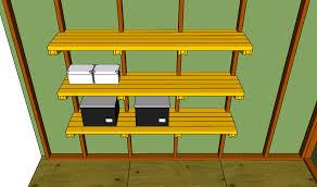 Build Wood Garage Shelf by Wooden Garage Shelving Plans Garage Shelving Plans Make It Or