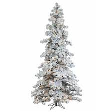 Flocking Christmas Tree Kit by Sterling 7 1 2 U0027 Heavy Flocked Layered Spruce Lighted Christmas