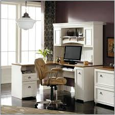 Techni Mobili Computer Desk With Side Cabinet by Computer Desk With Storage Above Rothmin Computer Desk With