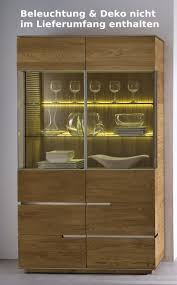 highboard vitrine vitrinenschrank wohnzimmer asteiche eiche massiv geölt lanatura