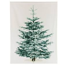 Nordic Fir Artificial Christmas Tree 6ft by Ikea Liamaria Screen Printed Christmas Tree On Fabric Has Slot