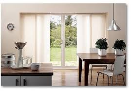 Architecture Sliding Glass Door Blinds With White Curtains For
