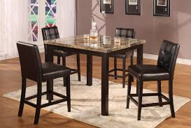 Dark Wood High Top Table Dining Style Hardwood Tops Laminate ...