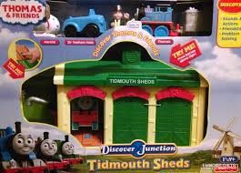Thomas And Friends Tidmouth Sheds Wooden Railway by Thomas And Friends Discover Junction Tidmouth Sheds Train Playset