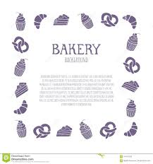 Bakery Background With Text Area Template Can Be Used As Information Brochure Or Banner