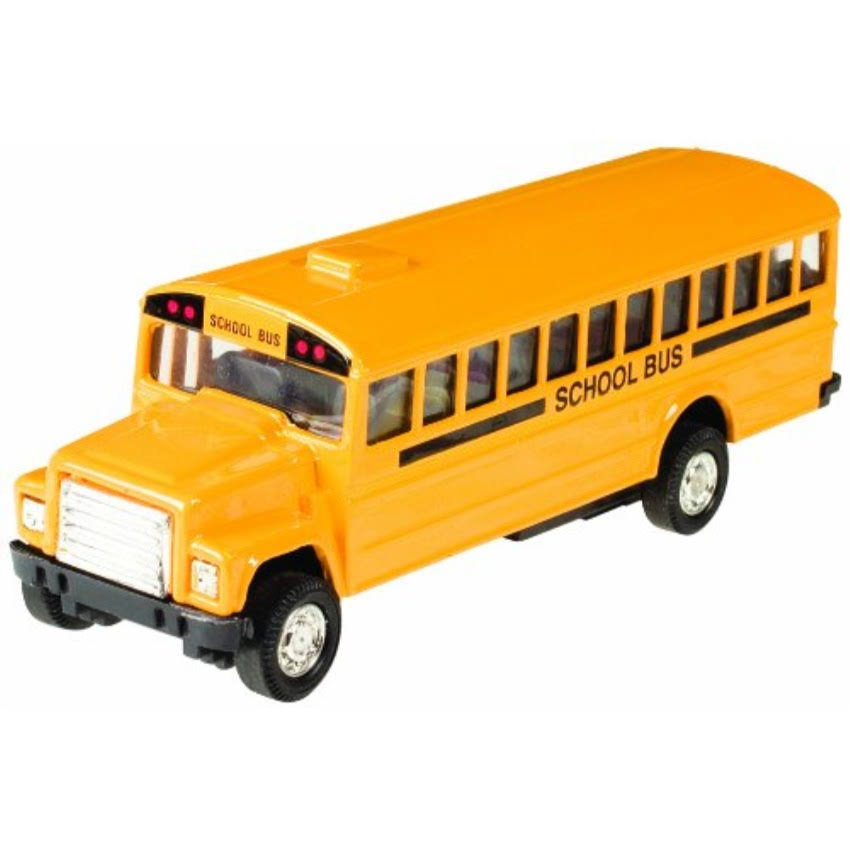 Toysmith Pull Back School Bus - Bright Yellow