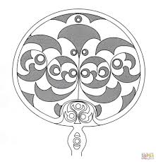 Celtic Owl Design Coloring Page