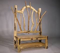 How To Make Rustic Furniture From Wood Chairs Made Out Of Branches Handmade Log Oak