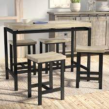 Laurel Foundry Modern Farmhouse Bourges 5 Piece Pub Table ...