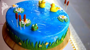 einfache teich torte motivtorte enten teich tutorial fondant torten tutorial kuchenfee