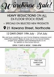 100 The Warehouse Northcote WAREHOUSE SALE Design Store NZ
