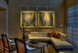 small living room furnished with corner white sectional sofa and
