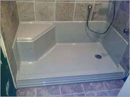 how to replace a fiberglass shower pan with tile walls 盪 charming