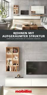 wohnwand in strukturiertem design wohnzimmer stauraum