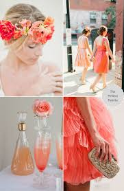 Coral Color Decorations For Wedding by 588 Best Wedding Color Schemes Images On Pinterest Wedding Color