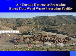 Air Curtain Destructor Burning by Bark Beetle Waste Disposal Methods And Diversion Ppt Video