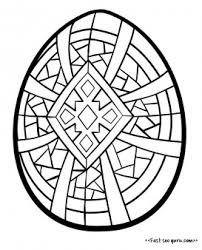 Printable Easter Egg Coloring In For Adults