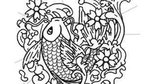 Koi Fish Tattoo Coloring Pages