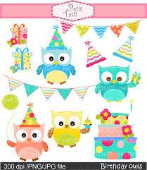 Owl Birthday Cake Clipart