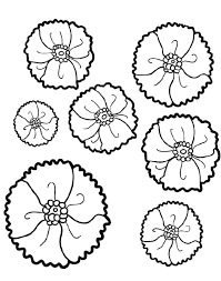 California Poppy Coloring Page How To Draw Flower