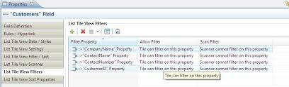 filtering lists in syclo agentry sap work manager application