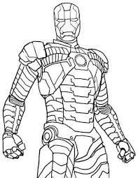 Superhero Iron Man Coloring Pages Free Printable For Girls Boys