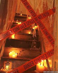 Scary Halloween Props For Haunted House by Haunted House Party Spooky Stairwell Add Fireproofed Curtains