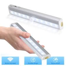 led cabinet lighting battery powered wireless cabinet lights image