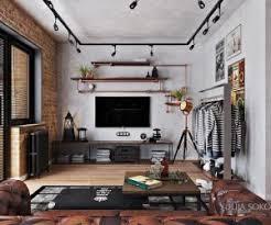 Bachelor Living Room 300—250 Industrial Interior Design Ideas