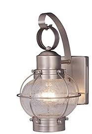 vaxcel ow21861bn chatham 7 inch outdoor wall light brushed nickel