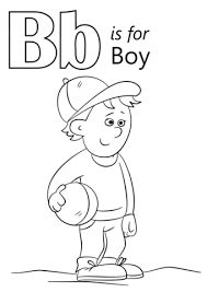 Click To See Printable Version Of Letter B Is For Boy Coloring Page