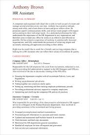 HR Assistant CV Template