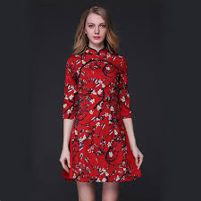 Chinese Style Dress Women Elegant Printed Sundress Summer Fashion Vestidos Casual Robe Femme Retro Clothing Vintage