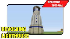Flashing Redstone Lamp Minecraft by Revolving Lighthouse Redstone Lamps