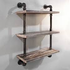 Picture Of Rustic Industrial DIY Floating Pipe Shelf