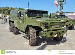 100 Armour Truck KUBINKA RUSSIA AUG24 2018 Special Military Multipurpose Off