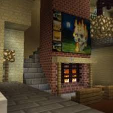 Minecraft Living Room Ideas Pe by Minecraft Bedroom With Living Area Furniture And Canopy Bed And