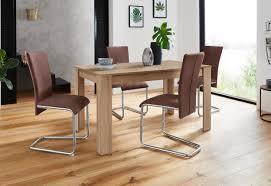 homexperts essgruppe nick3 mulan set 5 tlg mit 4 stühlen tisch in eichefarben sägerau breite 140 cm