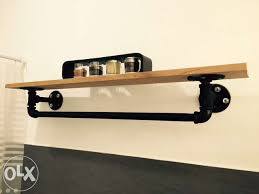 Wall Shelves For Sale Philippines Cream Varnished Wooden Mounted Shelf With Metal Bracket Industrial Rustic