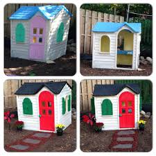 Step2 Playhouses Slides U0026 Climbers by Step 2 Playhouse Makeover This Diy Was Rather Easy To Do We