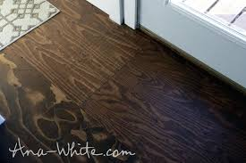 Charming Plywood Floor How To Stain Flooring Tiny House Build Episode Lowes