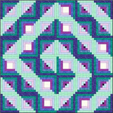 Design a Log Cabin quilt pattern that starts with a picture