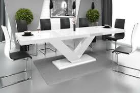 details zu esstisch esszimmertisch tisch ausziehbar in hochglanz acryl