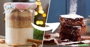 weihnachtliche lebkuchen backmischung im glas