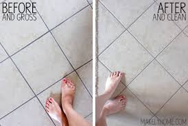 cleaning floor tiles and grout on floor in using steam as a