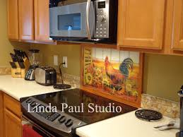 Rooster Kitchen Decor Backsplash With Sunflowers Tile Murals Of Property