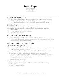 Resume Statement Examples S Objectives Sample For Service Crews