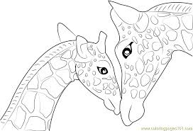 Mother And Baby Giraffe Printable Coloring Page For Kids Adults