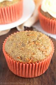 Classic Carrot Cake Cupcakes an easy clean eating recipe topped with protein